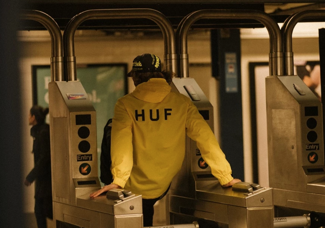Huf worldwide new york 1990 wind breaker