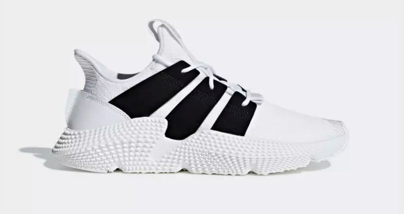 SIDE VIEW ADIDAS ORIGINALS PROPHERE FTWR WHITE CORE BLACK