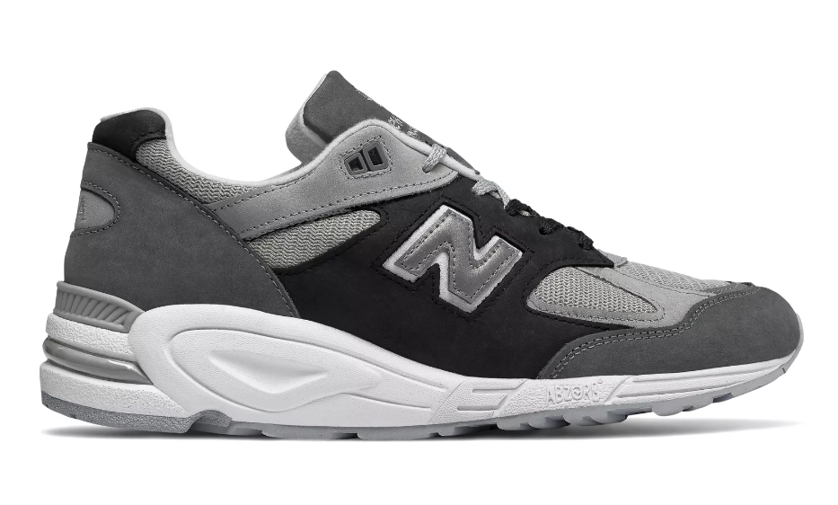 side view new balance 990v2 silver mink