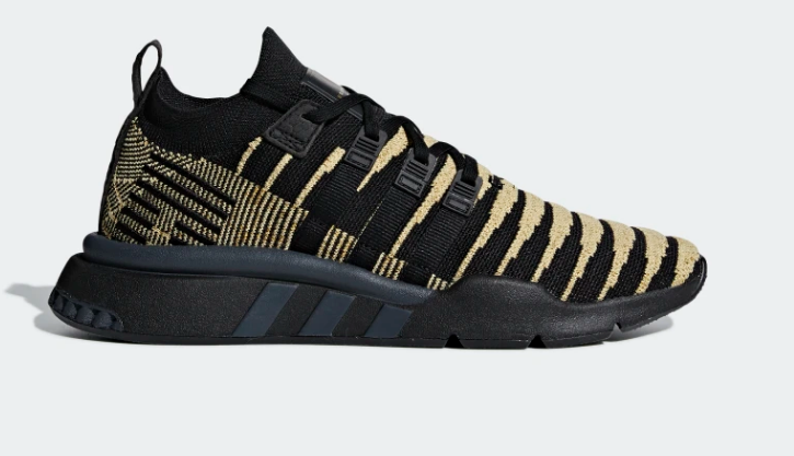 ADIDAS DRAGONBALL Z EQT SUPPORT MID ADV PRIMEKNIT SHOES CORE BLACK GOLD MET
