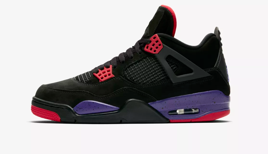 side view air jordan 4 raptor
