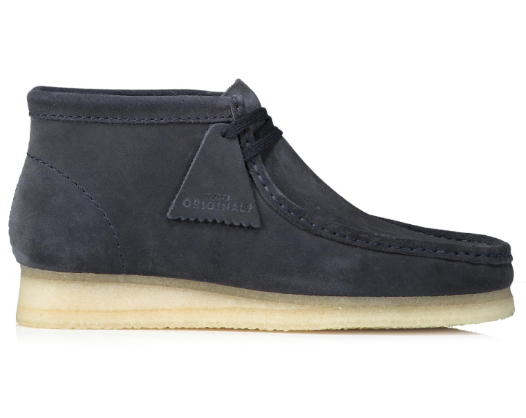 side view clarks wallabee boot