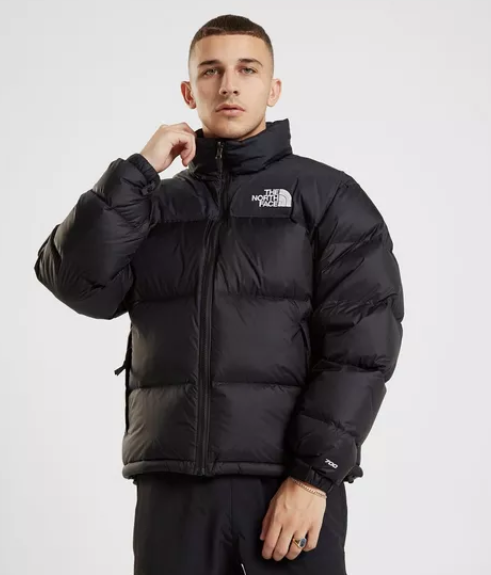 close view of the north face nuptse 1996 in black
