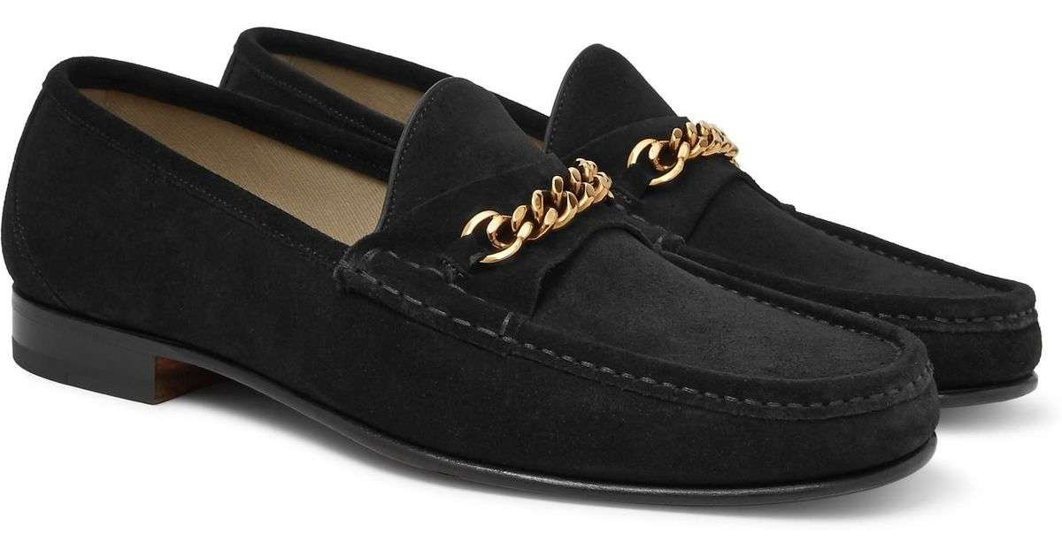tom ford gold chain loafers