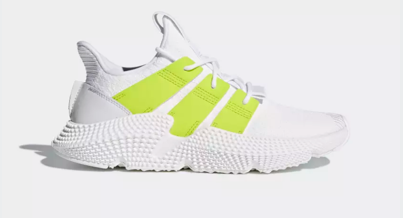 SIDE VIEW ADIDAS ORIGINALS PROPHERE FTWR WHITE SEMI SOLAR YELLOW