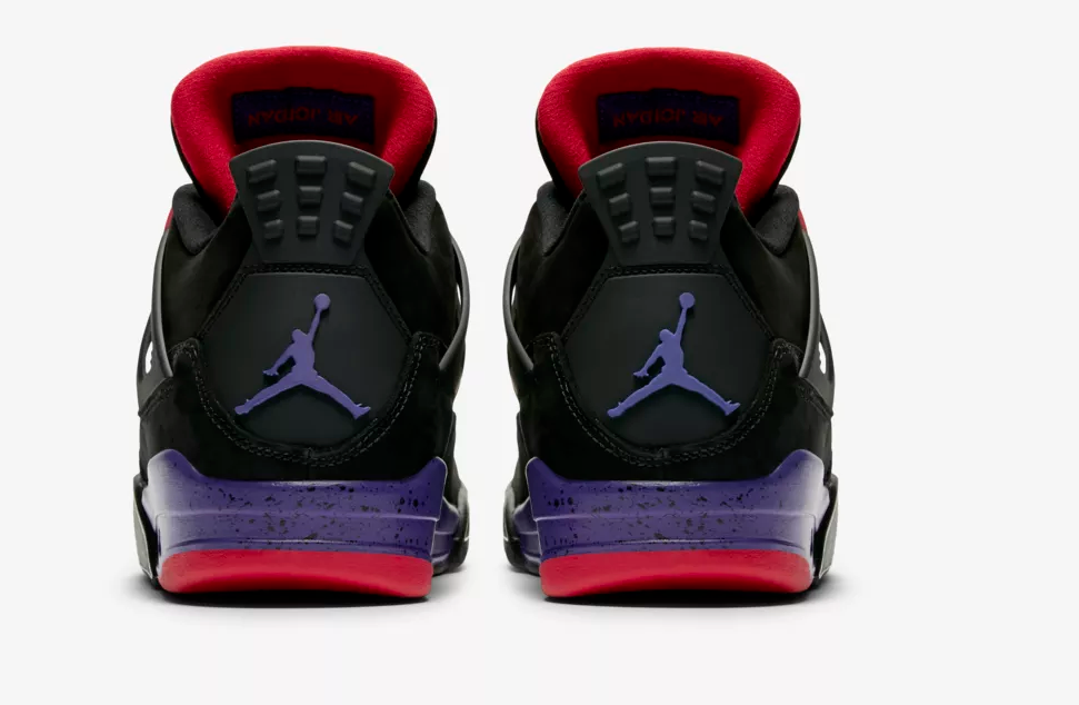 heel view air jordan 4 raptor