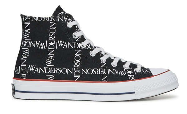 side view converse jw anderson black