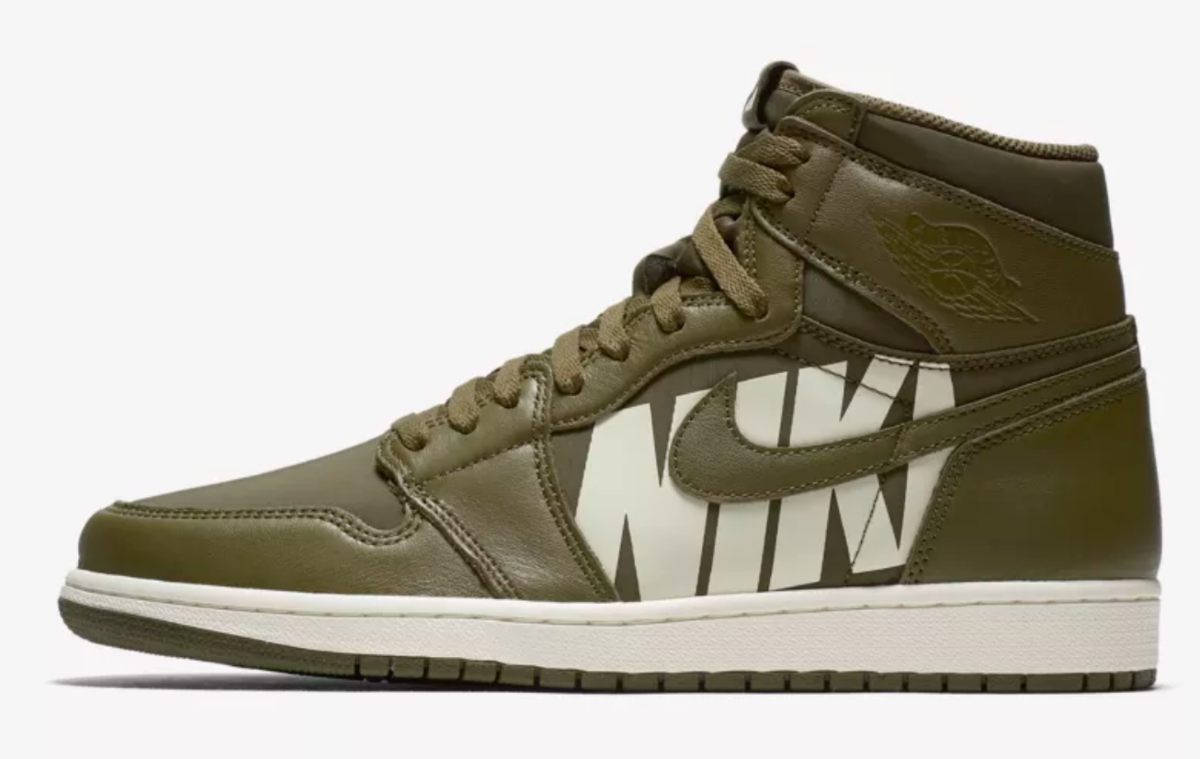 shop air jordan 1 high og olive canvas