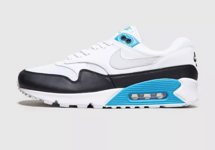 SIDE VIEW NIKE AIR MAX 90/1 'LASER BLUE'