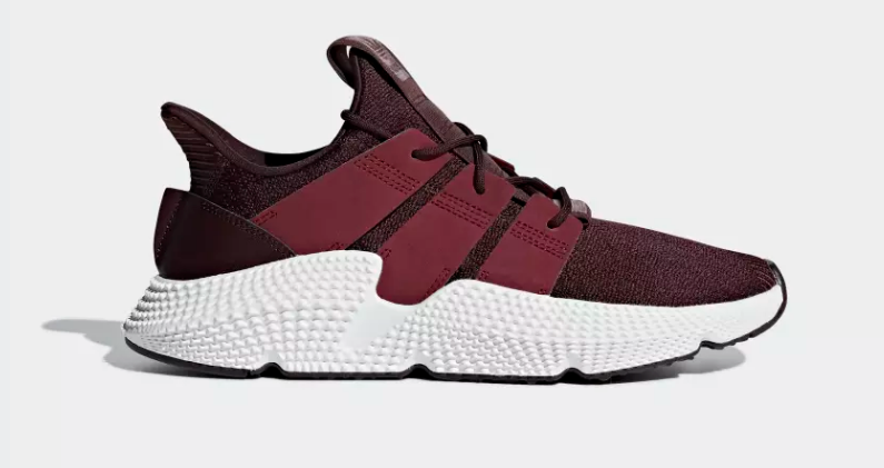 SIDE VIEW ADIDAS ORIGINALS PROPHERE NIGHT RED NOBLE MAROON