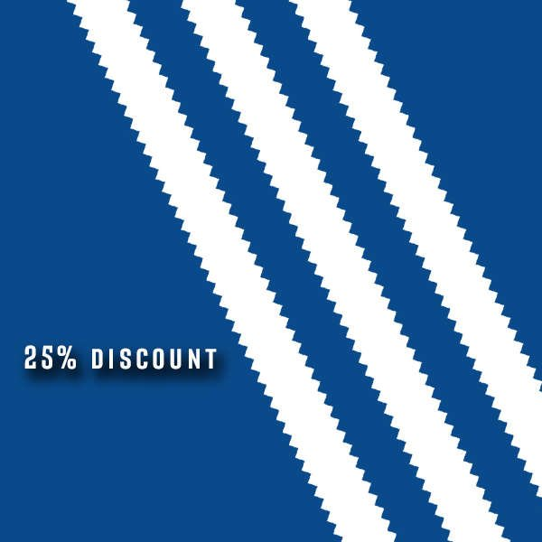 ONE DAY ONLY 25% DISCOUNT AT ADIDAS NOVEMBER 2018