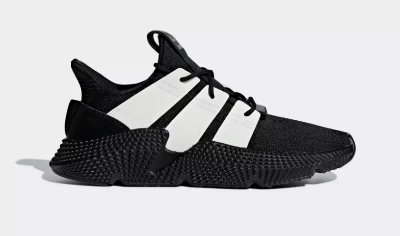 SIDE VIEW ADIDAS ORIGINALS PROPHERE CORE BLACK FTWR WHITE