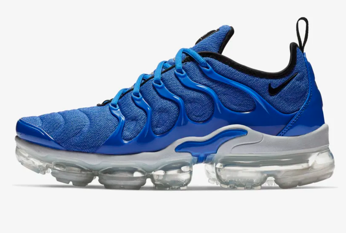 side nike air vapormax plus game royal wolf grey