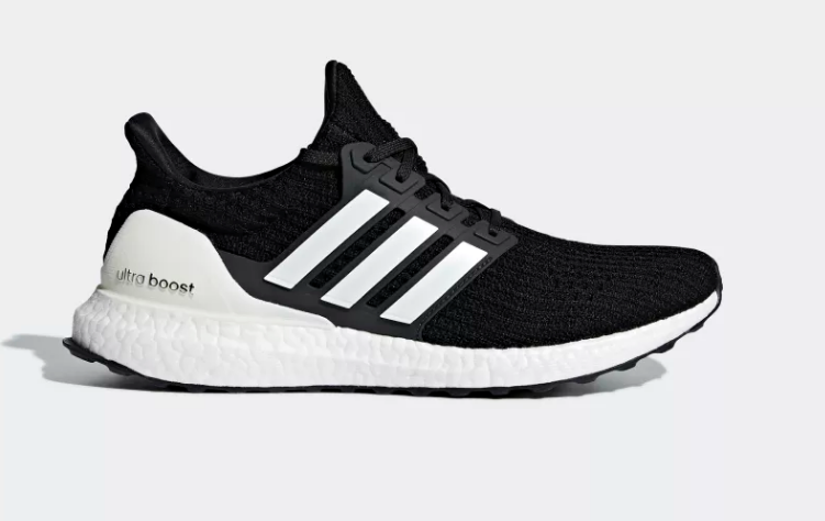 Side of core black adidas ultra boost