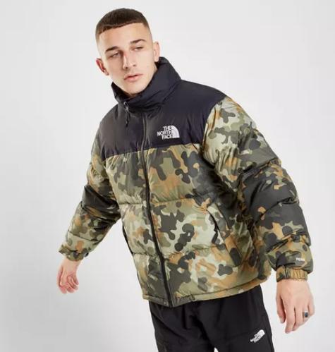 camo north face nuptse 1996 jacket
