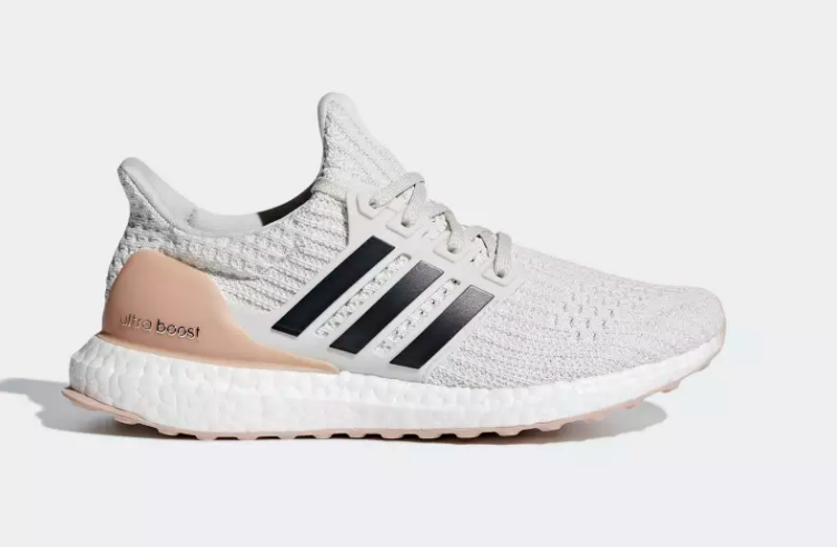 side of cloud white carbon adidas ultra boost