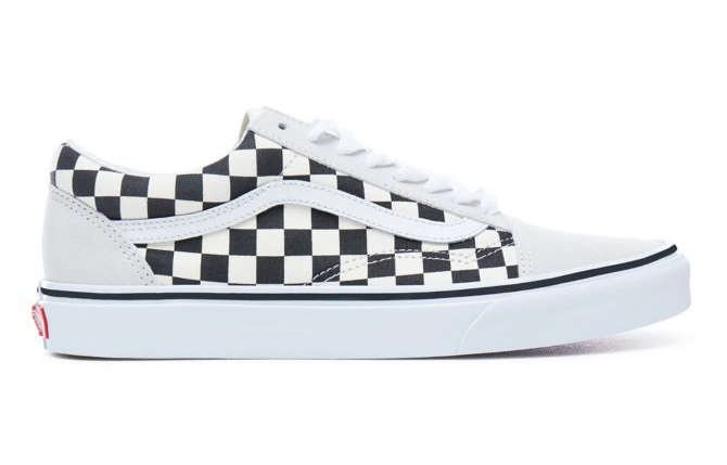 vans old skool shoe in checkerboard