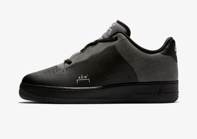 BLACK NIKE AIR FORCE 1 LOW X A-COLD-WALL*