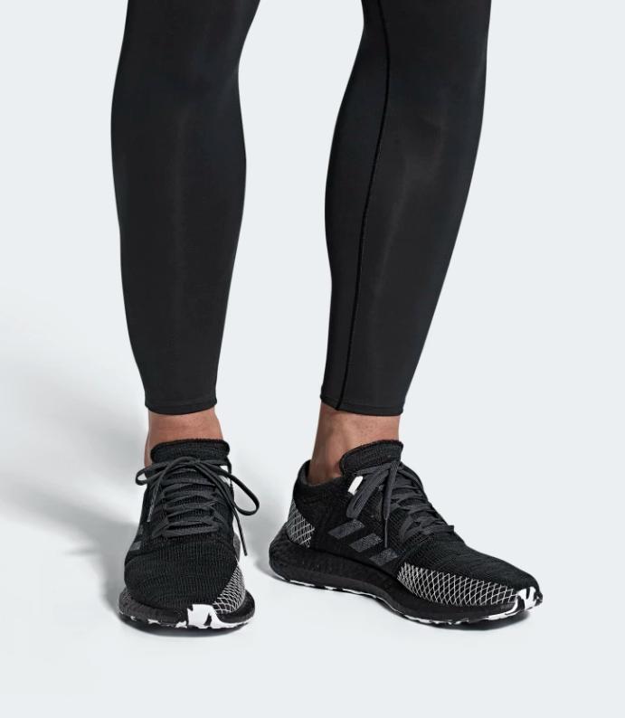 adidas pureboost go ltd on the foot
