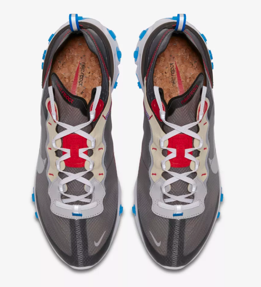 top view nike react element 97 photo blue at soleheaven