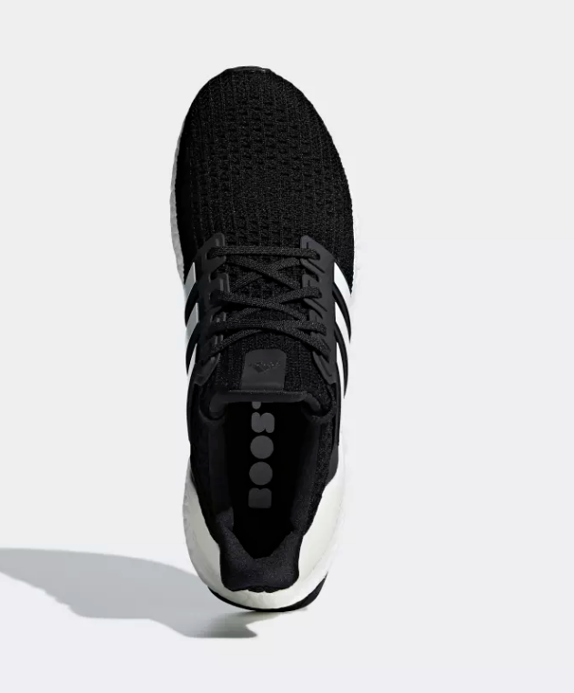 top of core black adidas ultra boost