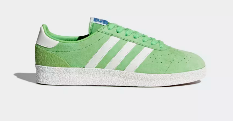 SIDE VIEW ADIDAS ORIGINALS MUNCHEN SUPER SPZL 'INTENSE GREEN'