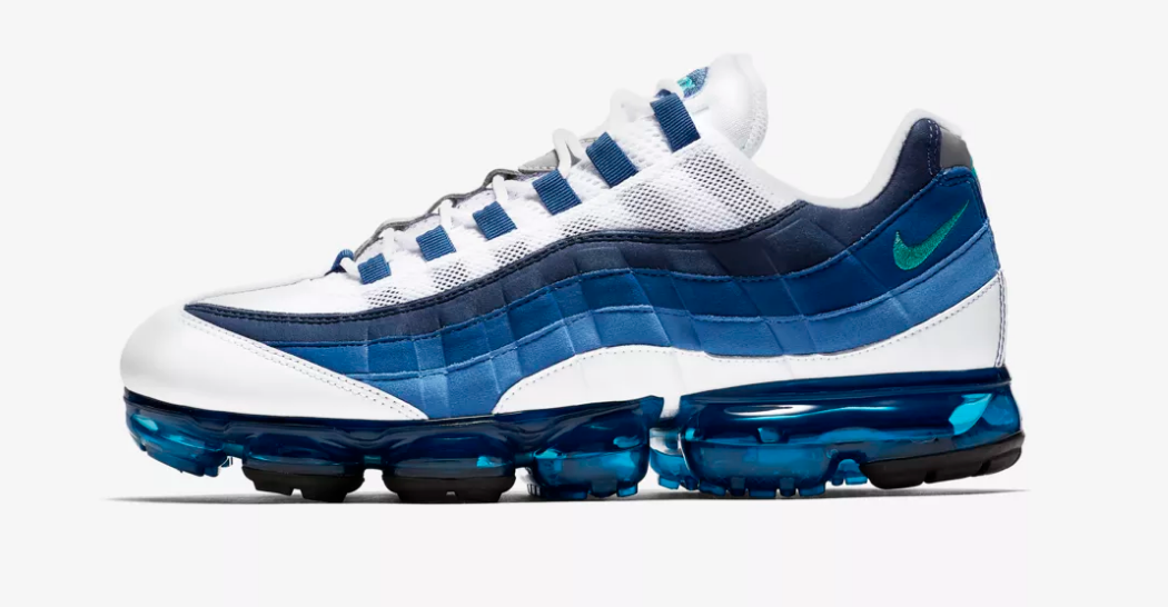 SIDE VIEW NIKE AIR VAPORMAX 95 'FRENCH BLUE'