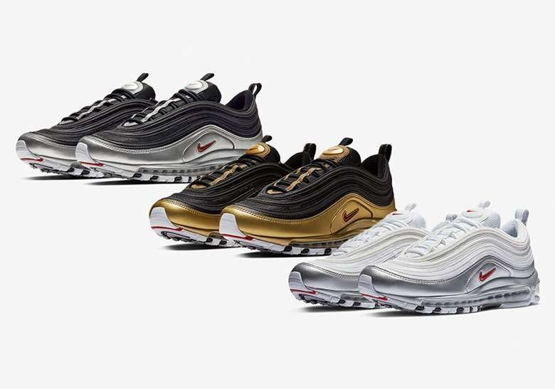 Side profile of the nike air max 97 qs b-sides pack