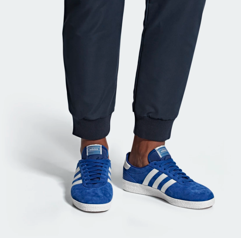ON FOOT ADIDAS ORIGINALS MUNCHEN SUPER SPZL 'COLLEGIATE ROYAL'