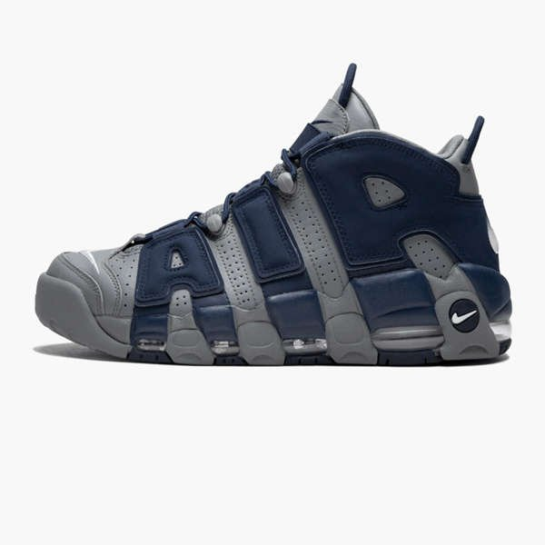 SIDE VIEW OF NIKE AIR MORE UPTEMPO 96 GEORGETOWN