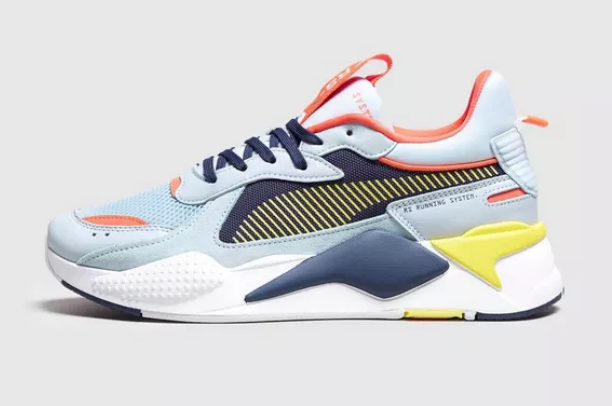 BUY THE PUMA RSX REINVENTION IN SKY BLUE AND YELLOW
