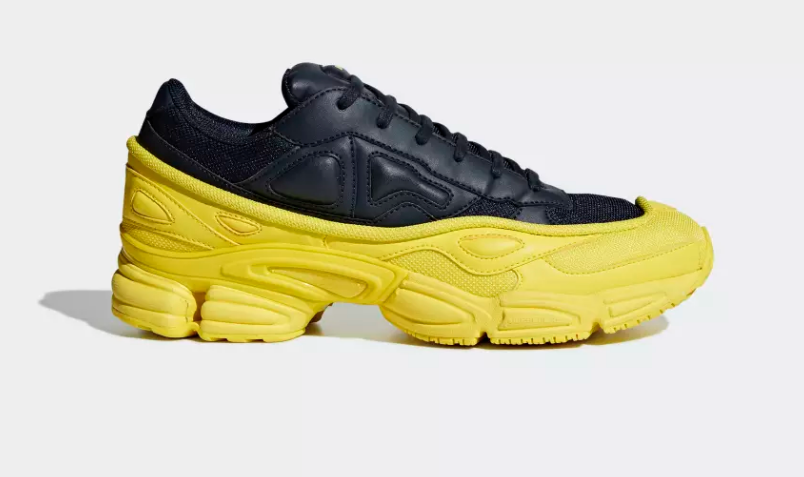 SIDE OF ADIDAS ORIGINALS RAF SIMONS OZWEEGO BRIGHT YELLOW
