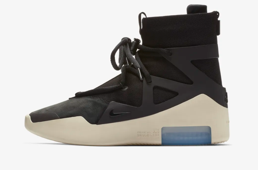 SIDE VIEW OF  BLACK NIKE BASKETBALL X FEAR OF GOD 1