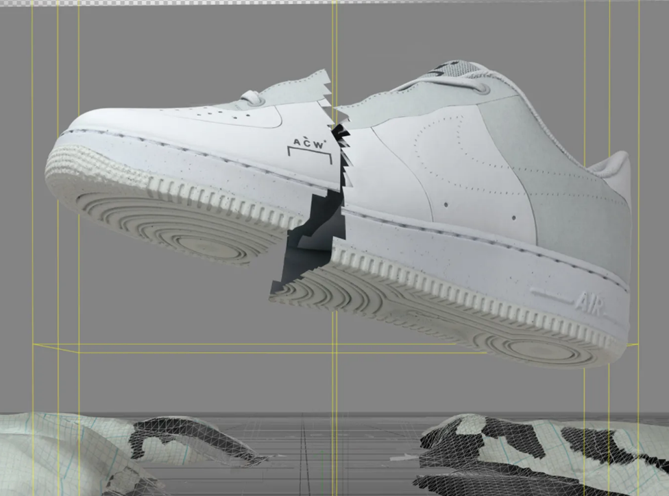 WHITE NIKE AIR FORCE 1 LOW X A-COLD-WALL*