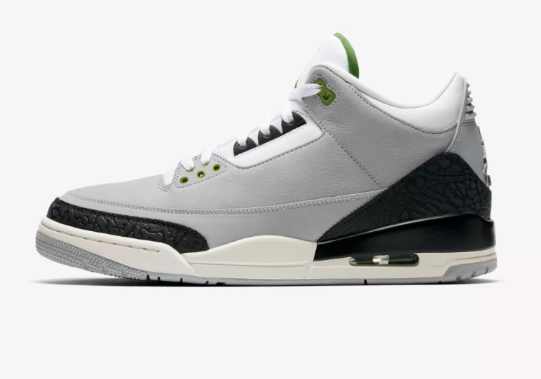 side view Air Jordan III Air Trainer 1 chlorophyll