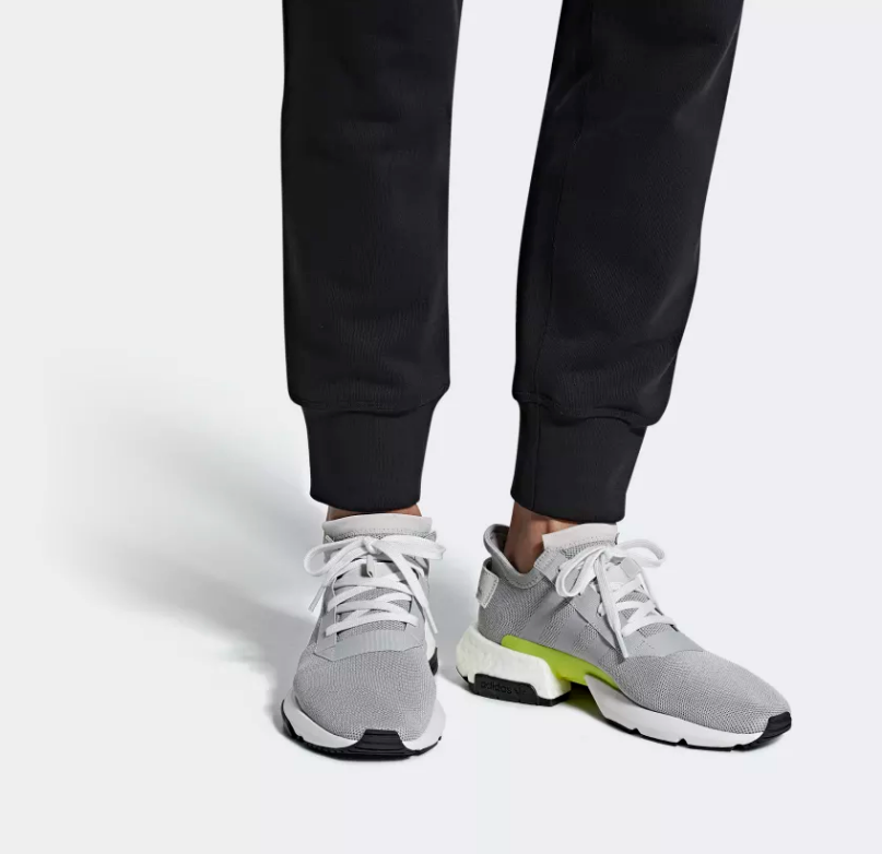 on foot adidas POD-S3.1 grey two