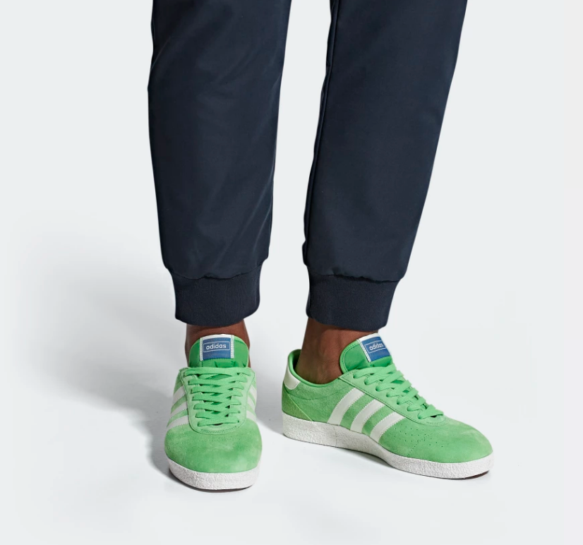 ON FOOT ADIDAS ORIGINALS MUNCHEN SUPER SPZL 'INTENSE GREEN'
