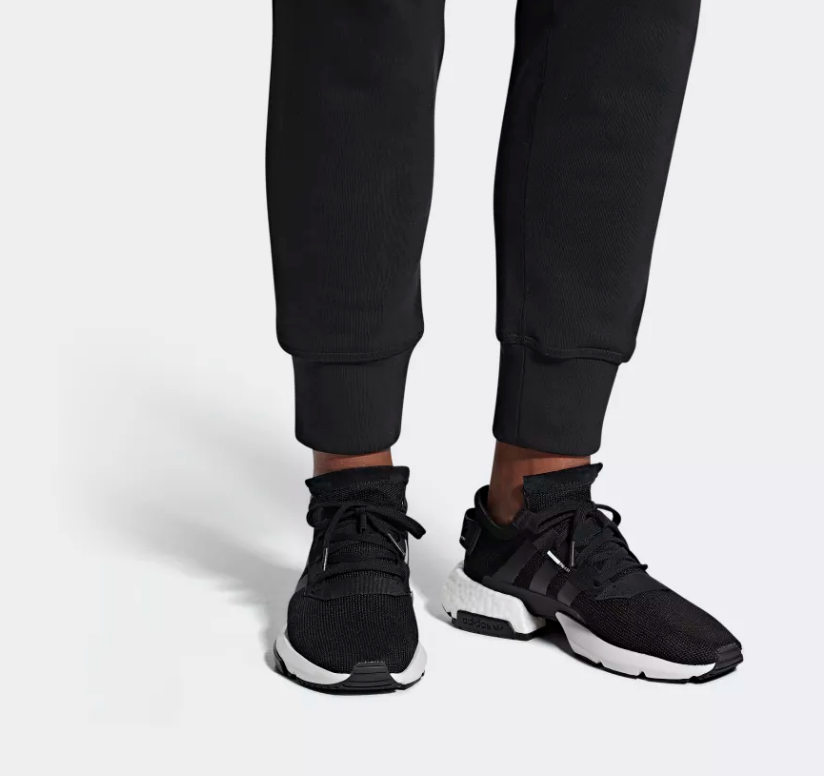 on foot adidas POD-S3.1 core black