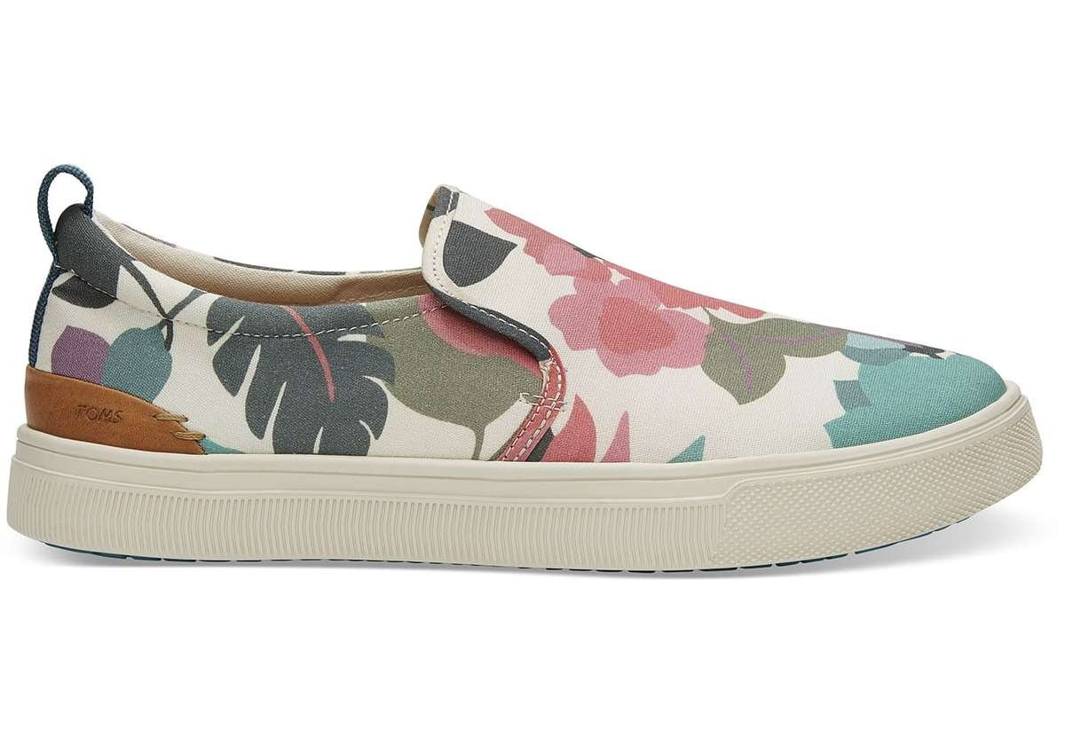toms slip on sneaker in floral