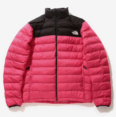 The North Face x Beams nuptse jacket in red