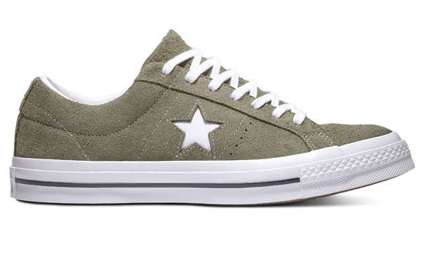 view of converse one star green