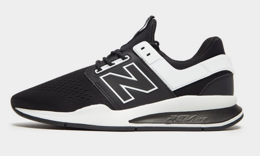 side new balance 247 black white jd sports exclusive