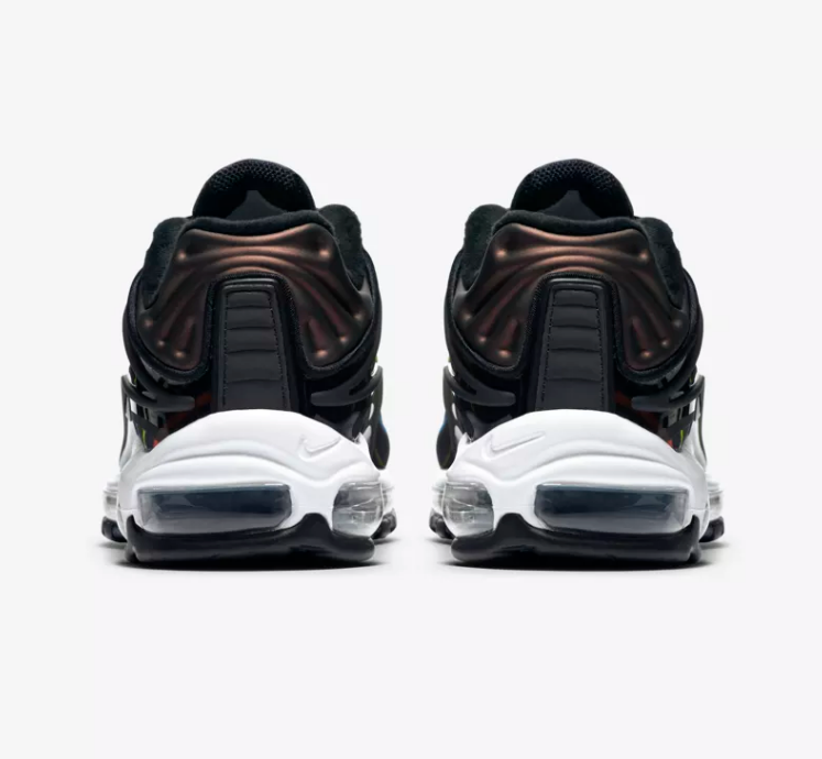 HEEL OF NIKE AIR MAX DELUXE 'BLACK / MULTICOLOUR'