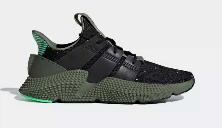 SIDE VIEW ADIDAS ORIGINALS PROPHERE CORE BACK SHOCK LIME