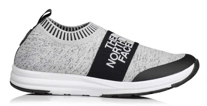 north face traction knit grey
