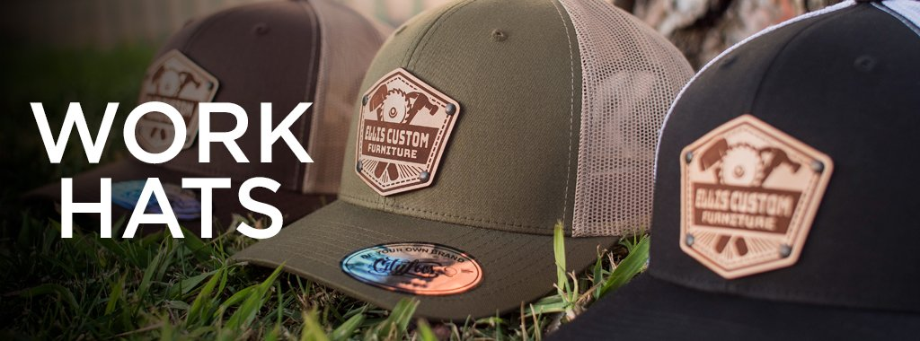 custom work hats