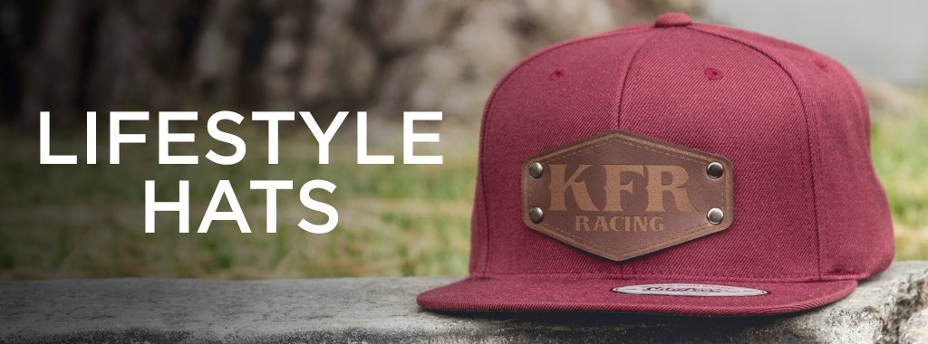 red custom leather patch hat