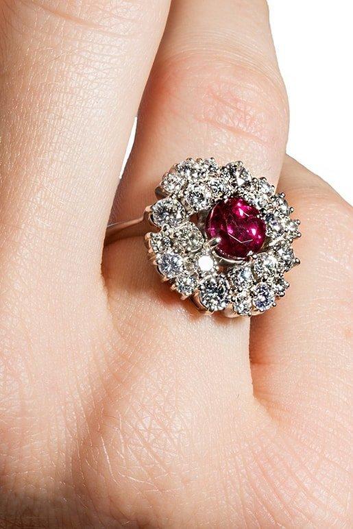 Art Deco Ruby Ring, Katherine LeGrand Custom Goldsmit
