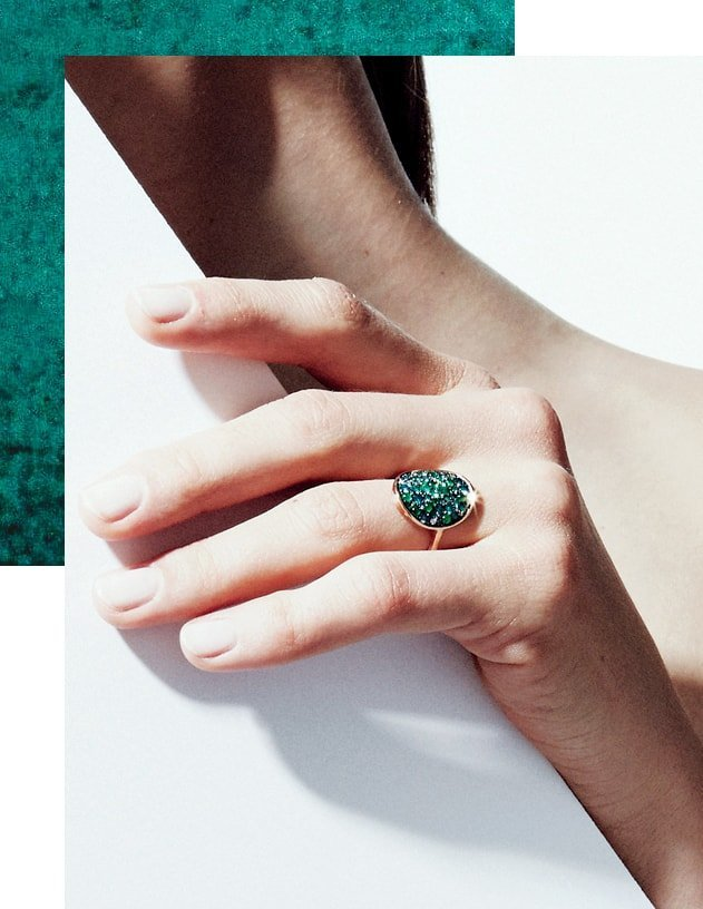 Starstruck Ring With Emeralds And Diamonds
