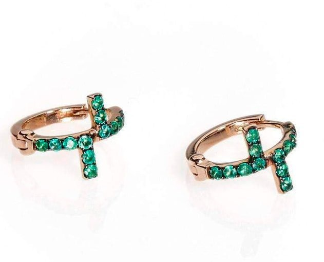 Antithesis Fine Earrings on Emeralds